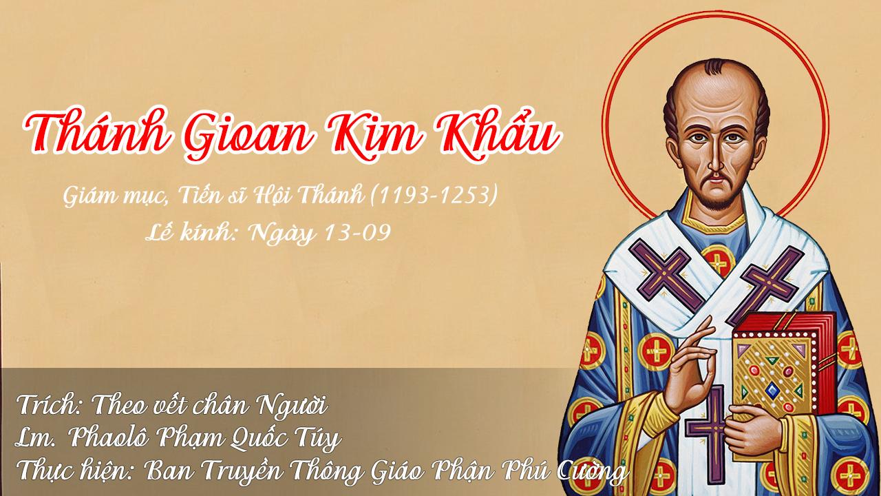 Phụng vụ Chư Thánh - Thánh Gioan Kim Khẩu