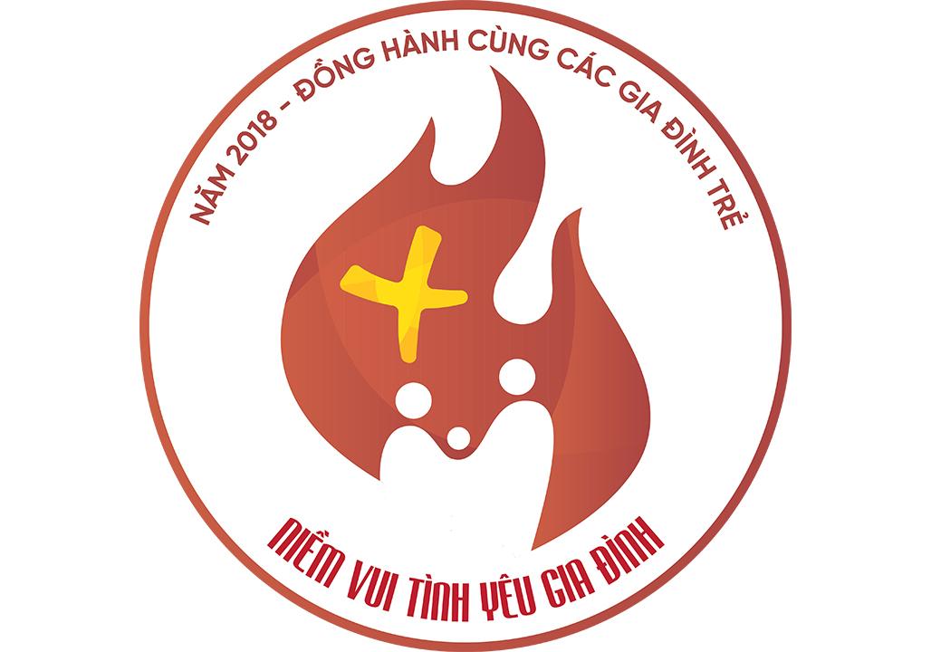 Giới thiệu Logo năm mục vụ gia đình 2018: Đồng hành với các gia đình trẻ